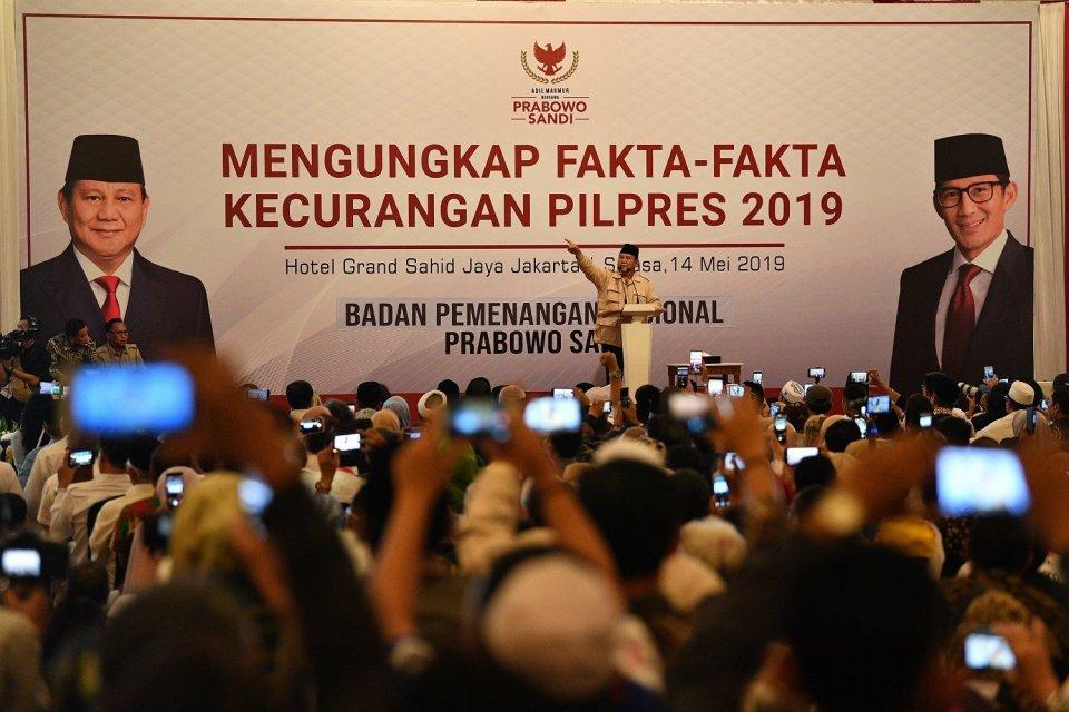 Prabowo tolak hasil hitung KPU