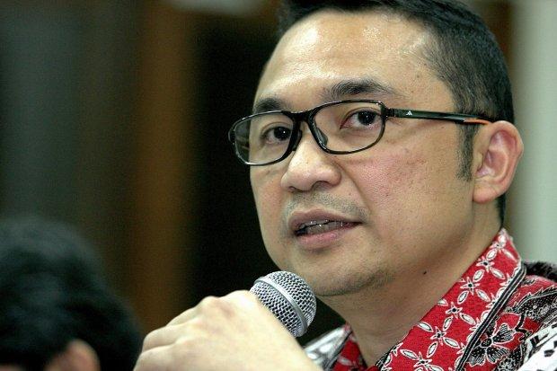 Direktur Garuda Indonesia, I Gusti Ngurah Askhara Danadiputra di Jakarta, Jumat, (20/03). Arief Kamaludin|Katadata