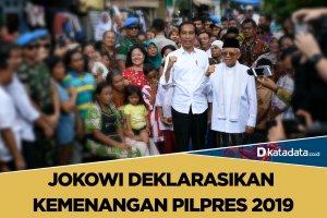 jokowi deklarasikan kemenangan pilpres 2019