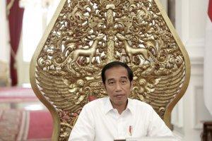 Presiden Jokowi saat wawancara khusus dengan Katadata.co.id, di Istana Merdeka, Jakarta, Senin (27/5).