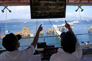 Pengaturan Lalu Lintas Penyeberangan di Pelabuhan Ketapang