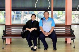 Presiden Ri ke-6 Susilo Bambang Yudhoyono bersama istri Ani Yudhoyono