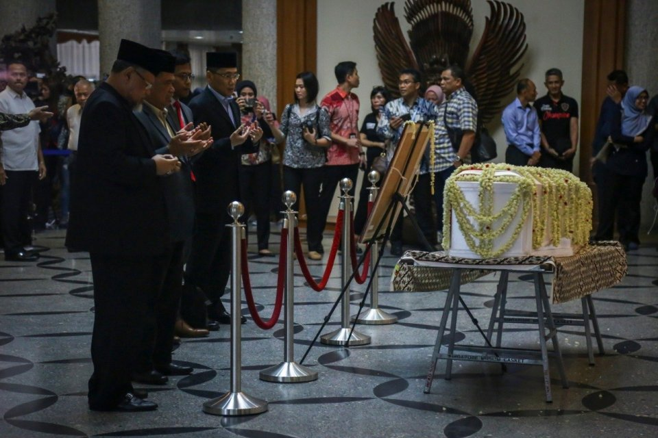 Sejumlah tokoh berbelasungkawa atas meninggalnya Ani Yudhonono di Puri Cikeas