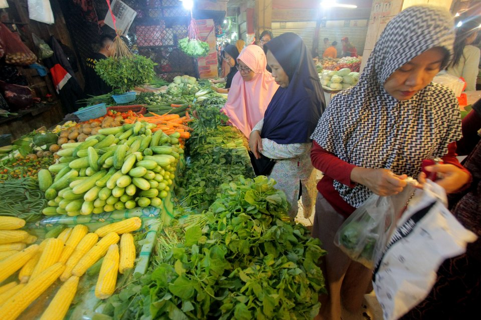 BPS, deflasi, kenaikan harga, harga pangan, indeks harga konsumen