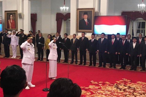 Jokowi melantik Gubernur dan Wakil Gubernur Lampung periode 2019-2024 di Istana Negara, Jakarta