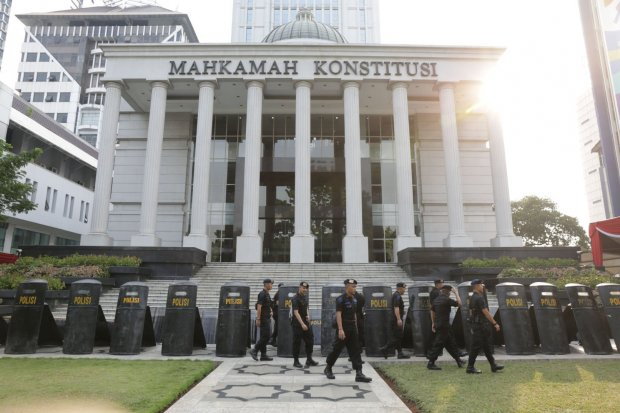 ilustrasi Mahkamah Konstitusi, Jakarta Pusat (12/6).