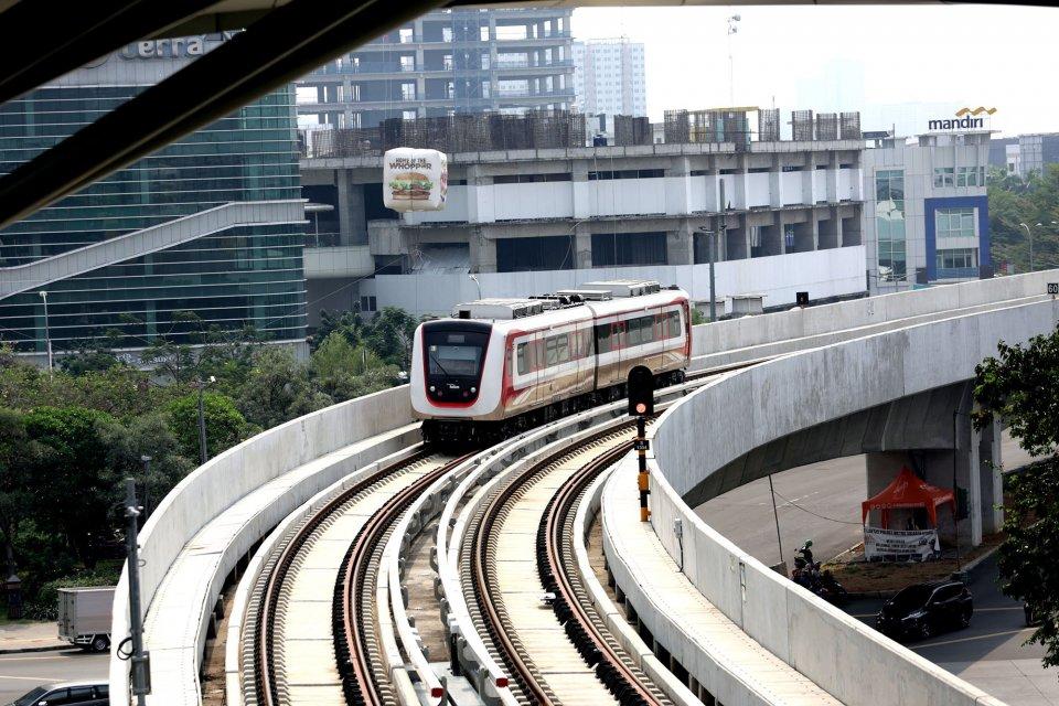proyek lrt, infrastruktur, transportasi