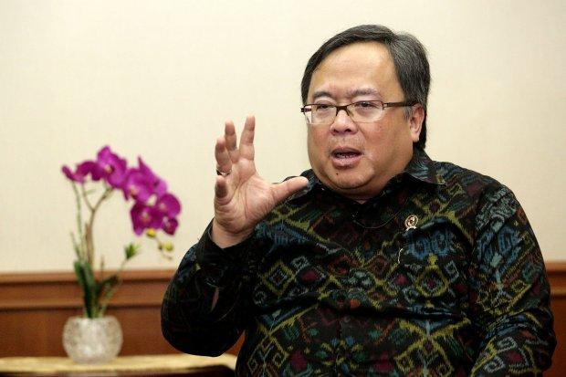 Bambang Brodjonegoro selaku Menteri Badan Perencanaan Pembangunan Nasional.