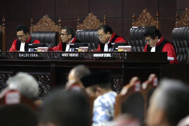 Hakim Konstitusi, sidang gugatan pilpres 2019