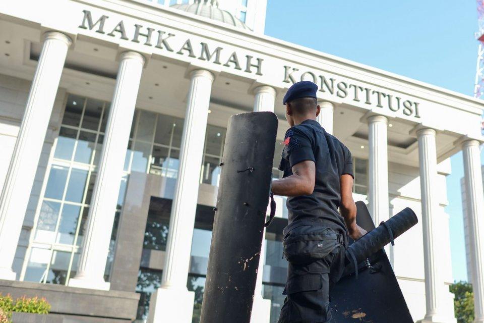 Gedung Mahkamah Konstitusi (MK), Jakarta, Selasa (18/6/2019).