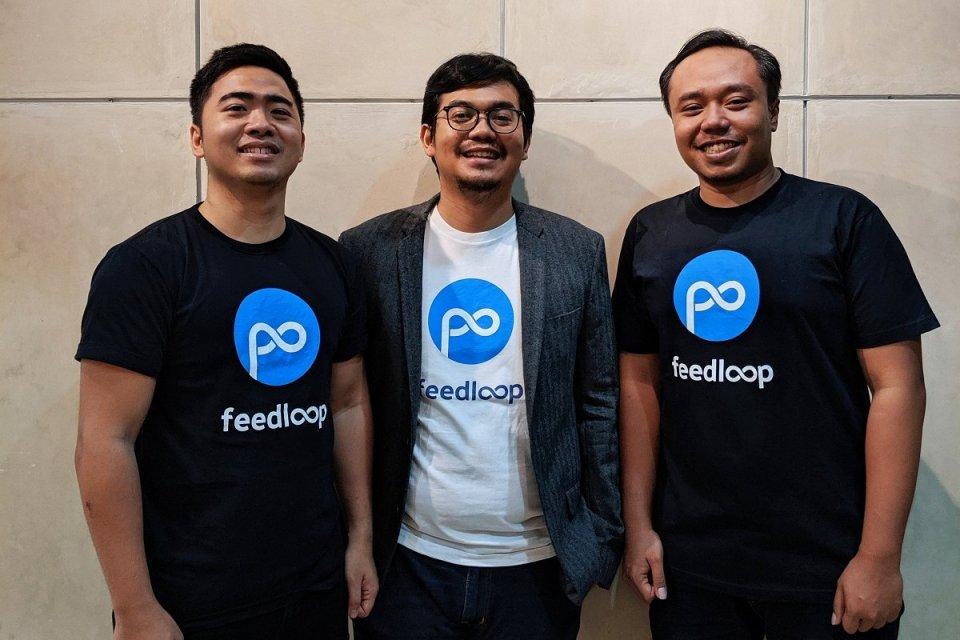 (Kiri ke kanan) CTO Feedloop Ronaldi Kurniawan, CEO Feedloop Ahmad Rizqi Meydiarso, CMO Feedloop Muhammad Ajie Santika