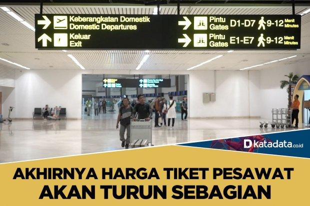 Tiket Pesawat Turun