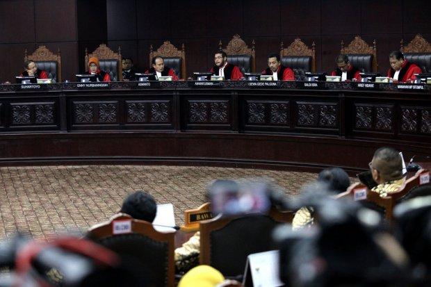 sidang putusan mahkamah konstitusi , sengketa pilpres 2019, prabowo-sandiaga, jokowi-ma'ruf