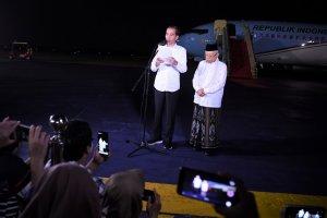 Jokowi-Amin Beri Pernyataan di Halim Perdanakusuma