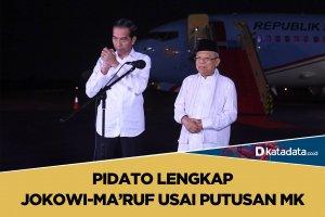 Pidato lengkap Jokowi-Ma'ruf Amin