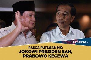 Putusan MK, Jokowi Presiden, Prabowo Kecewa