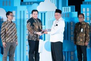 Diskusi Katadata Forum: Memajukan Perhotelan di Era Digital untuk Pemberdayaan Ekonomi Daerah bekerja sama dengan Airy di Balai Kartini, Jakarta, Rab
