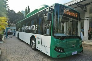 Bus Listrik Diujicoba untuk Transjakarta