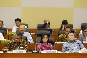 Rapat kerja dengan Badan Anggaran DPR di Kompleks Parlemen