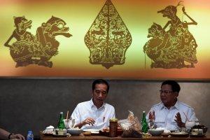 Jokowi dan Prabowo Makan Siang Bersama