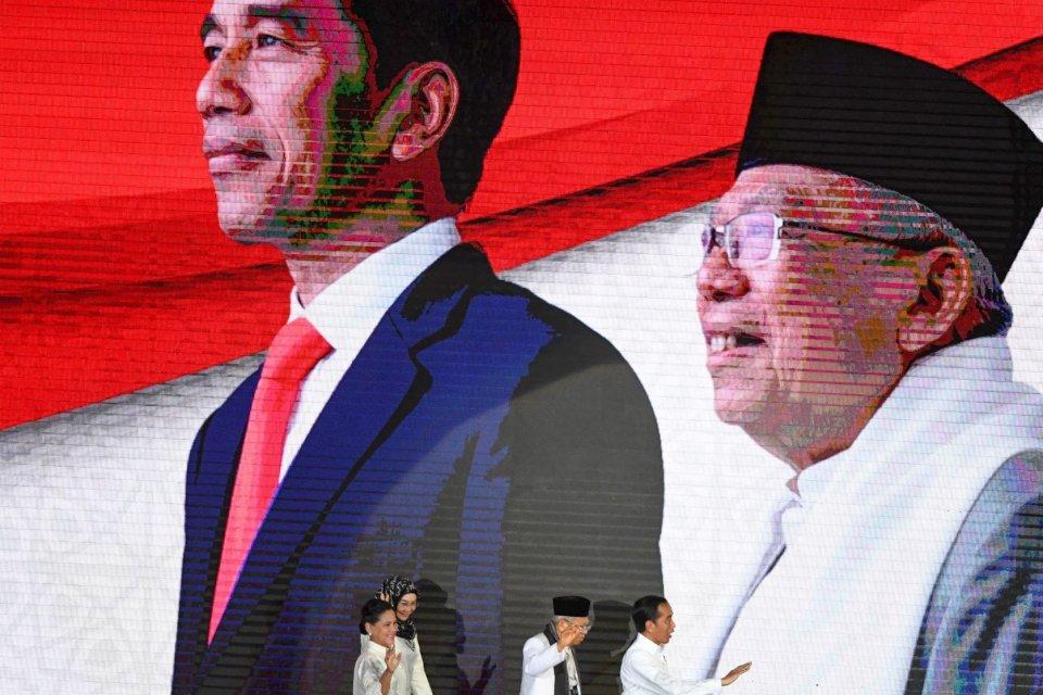 pidato politik Jokowi tanpa hukum dan HAM