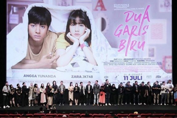 Gala premiere film Dua Garis Biru di Jakarta, 28 Juni 2019.