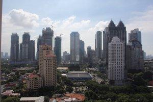 Kawasan SCBD, Jl. Jenderal Sudirman, Jakarta.