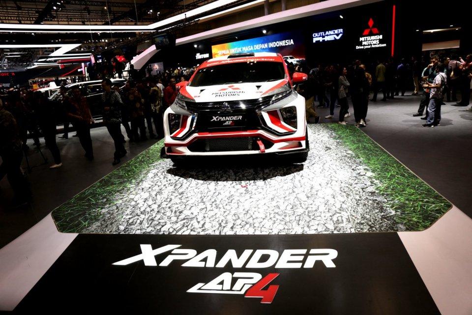 Ilustrasi mobil Mitsubishi XPander dalam ajang pameran Gaikindo Indonesia International Auto Show (GIIAS) 2019 di Gedung Nusantara 2, ICE BSD, Tangerang, Banten (18/7/2019). Xpander menyumbang 60% dari target penjualan Mitsubishi di GIIAS 2019.