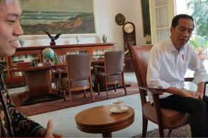 Rich Brian bertemu Jokowi