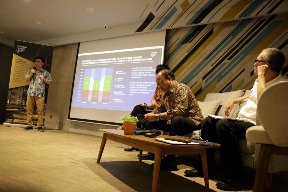 katadata investor confidence index, kabinet baru, jokowi