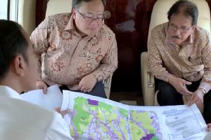 Jokowi Tinjau Lokasi Pemindahan Ibu Kota