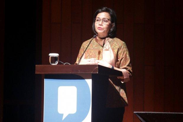 Sri Mulyani selaku Menteri Keuangan Indonesia dalam acara Knowledge sector Intiative Katadata forum dengan tema
