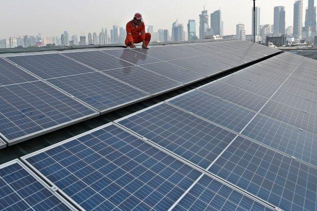 energi terbarukan, ebt, investasi asing, plts atap