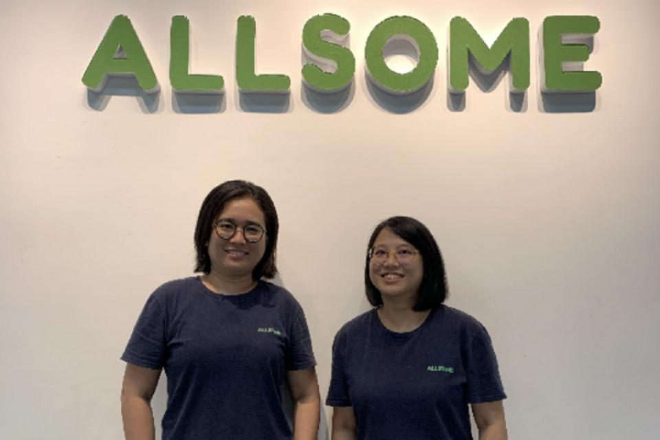 CEO AllSome Fulfillment Liu Yi Shu dan CTO AllSome Fulfillment Ng Yi Ying. AllSome Fulfillment bakal masuk ke Indonesia.