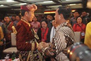 Jokowi dan Prabowo di Kongres V PDIP