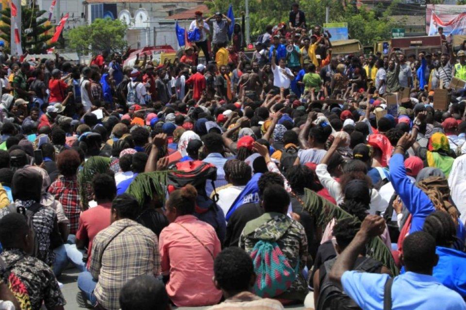 Papua, Jayapura, Demonstrasi.