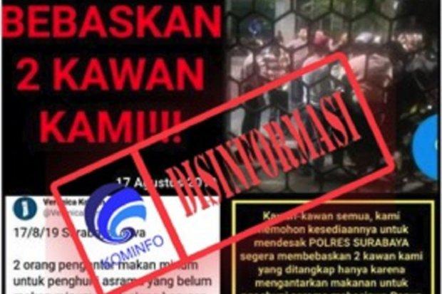 Kementerian Kominfo meminta maaf kepada Pengacara HAM dan Pendamping Mahasiswa Papua di Surabaya, Veronica Koman. Sebab, kementerian mengakui keliru memberikan cap disinformasi atas unggahan Veronica di Twitter.