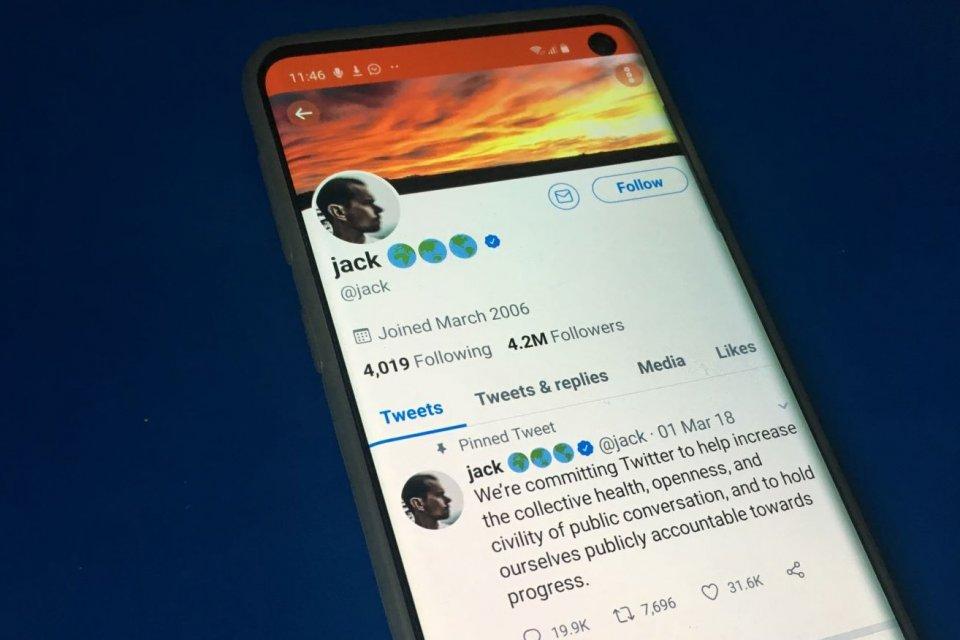 Akun CEO Twitter Jack Dorsey sempat diretas pada Jumat sore (30/8)
