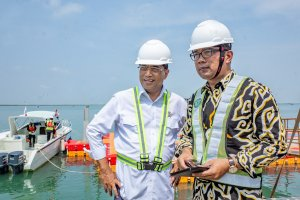 Kunjungan Menteri Perhubungan di Pelabuhan Patimban