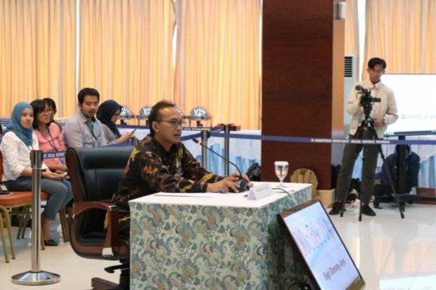 Sigit Danang Joyo, salah satu calon pimpinan Komisi Pemberantasan Korupsi (KPK), pada saat mengikuti tes wawancara dan uji publik di Sekretariat Negara, Kamis (29/8).
