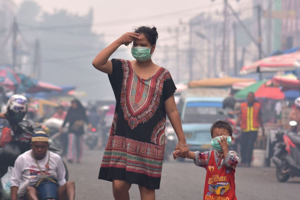 kebakaran hutan, asap kebakaran, karhutla, Riau status siaga