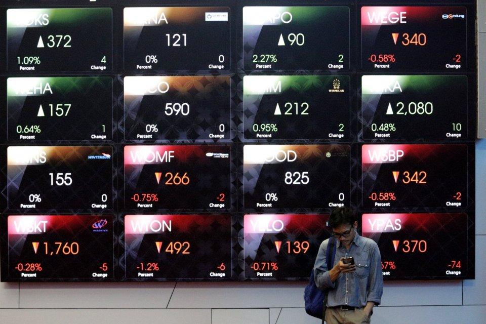 ihsg sesi i, saham top losers, pasar saham, aksi demonstrasi
