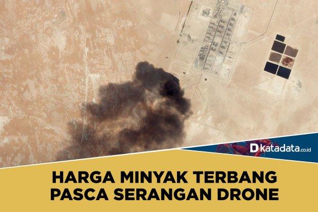 harga minyak naik setelah serangan drone