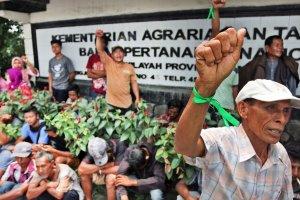Unjuk Rasa Konflik Lahan di Sumatera Utara