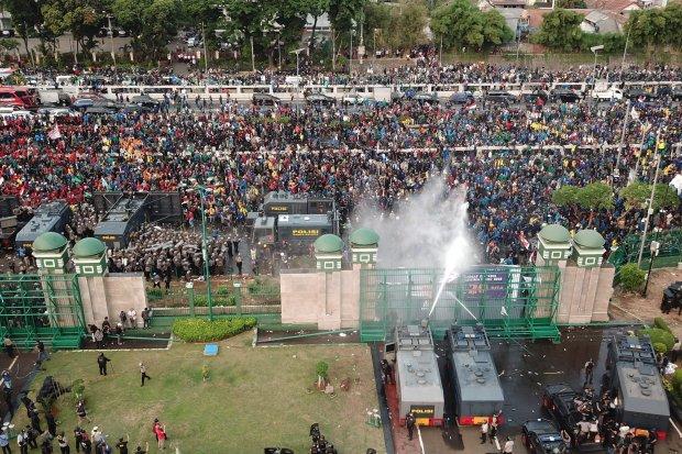 demonstrasi, mahasiswa, tolak RKUHP