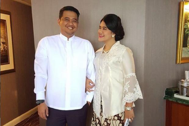Bobby Nasution dan putri Presiden Jokowi, Kahiyang Ayu.