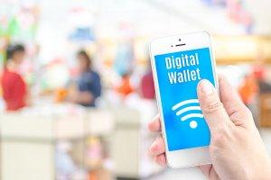 Ilustrasi pembayaran digital