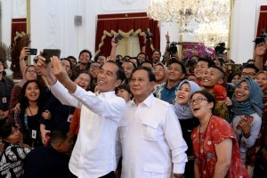 Presiden Jokowi dan Prabowo Subianto