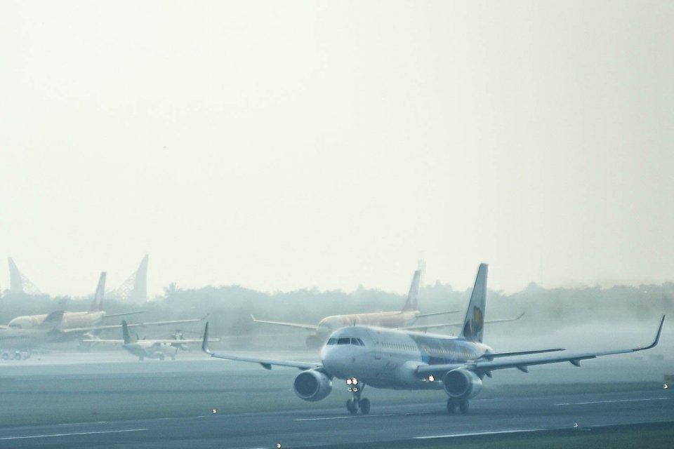 save palembang, kebakaran hutan dan lahan, asap karhutla, kabut asap palembang, kabut asap palembang berbahaya, penerbangan terganggu