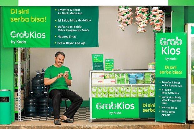 Ilustrasi GrabKios. Kudo berubah nama menjadi GrabKios dan menyediakan layanan baru seperti investasi emas dan umrah.
